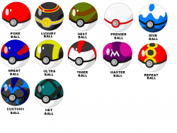 Drawn pokeball pokemon