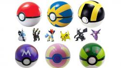 Drawn pokeball soccer ball