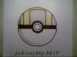 Drawn pokeball soccer boy