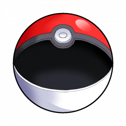 Drawn pokeball soccer goal post