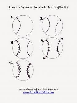 Drawn baseball softball