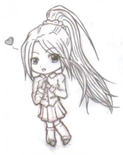 Drawn ponytail chibi