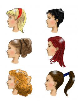 Drawn ponytail hair updo