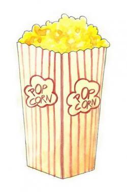 Drawn popcorn