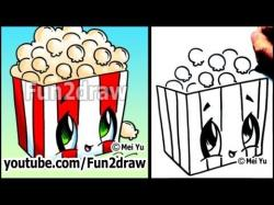 Drawn popcorn cartoon