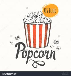 Drawn popcorn cinema