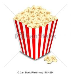 Drawn popcorn vector