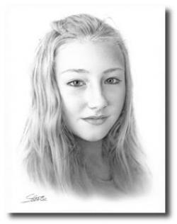 Drawn photos portrait
