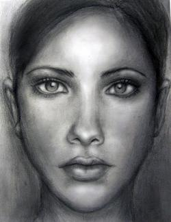 Drawn photos human face