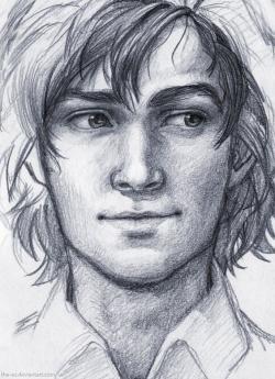 Drawn photos men's face