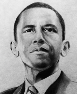 Drawn portrait obama
