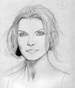 Drawn face portrait