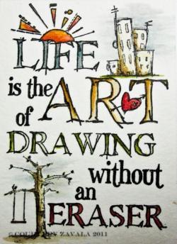 Drawn quote creative art