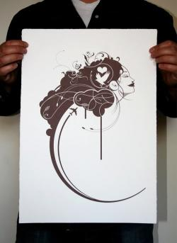 Drawn poster creative art
