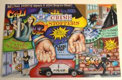 Drawn poster crime stopper