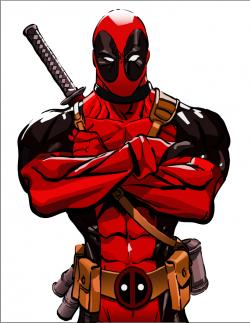 Drawn poster deadpool