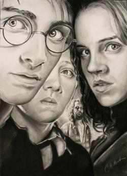 Drawn poster harry potter