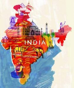 Drawn poster incredible india for kid