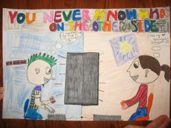 Drawn poster internet safety