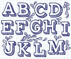 Typeface clipart letter style