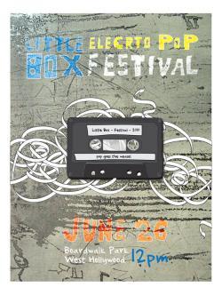 Drawn poster vintage festival