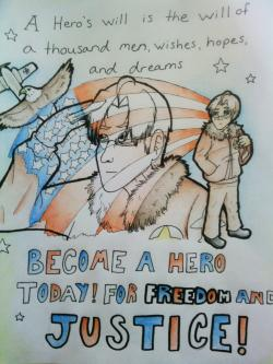 Drawn poster ww1 propaganda