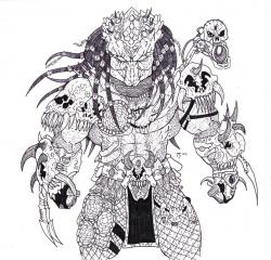 Drawn jungle predator