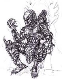 Drawn predator king