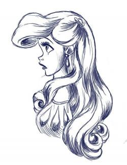 Drawn princess ariel