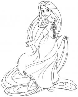 Drawn princess black and white