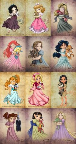 Drawn princess children's
