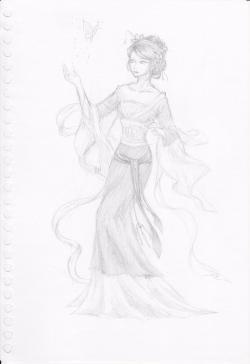 Drawn princess chinese princess