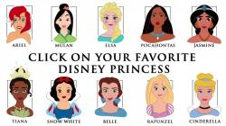 Drawn princess disney character