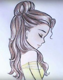 Drawn ponytail belle