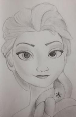 Drawn frozen pencil drawing