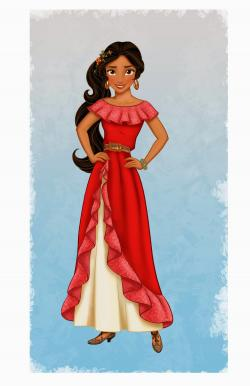 Drawn princess elena disney