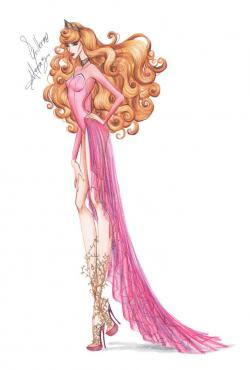 Drawn princess fashion illustration