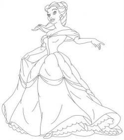 Drawn princess full body