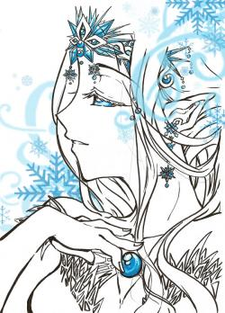 Drawn princess ice princess