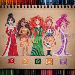 Drawn princess inspired