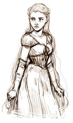 Drawn princess medieval
