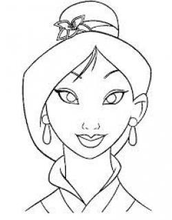 Drawn princess mulan