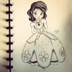 Drawn princess pencil sketch