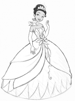 Drawn princess princess and the frog