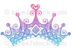 Drawn princess princess crown