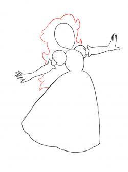 Drawn princess princess peach