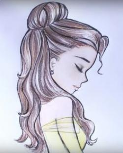 Drawn princess profile