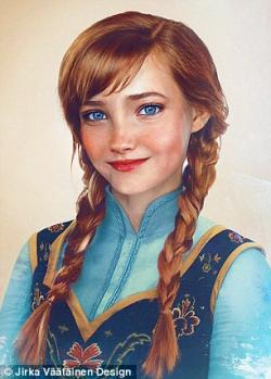 Drawn princess realistic