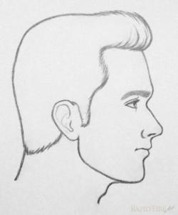 Sketch clipart side profile face