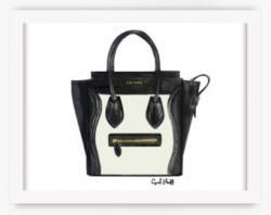 Drawn purse celine